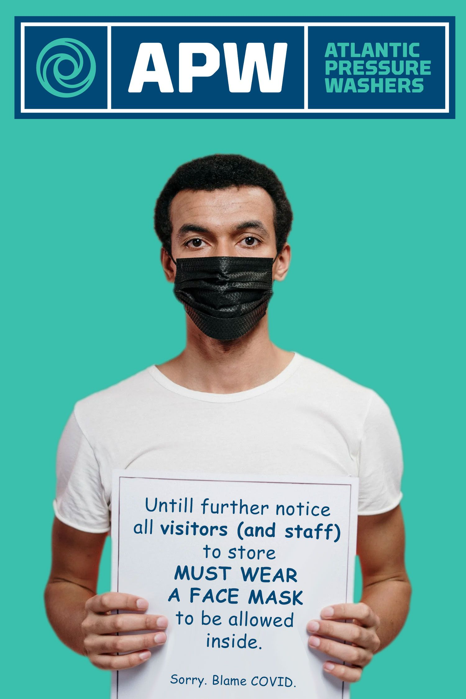 All visitors and staff must now where a face mask when entering our retail shop.